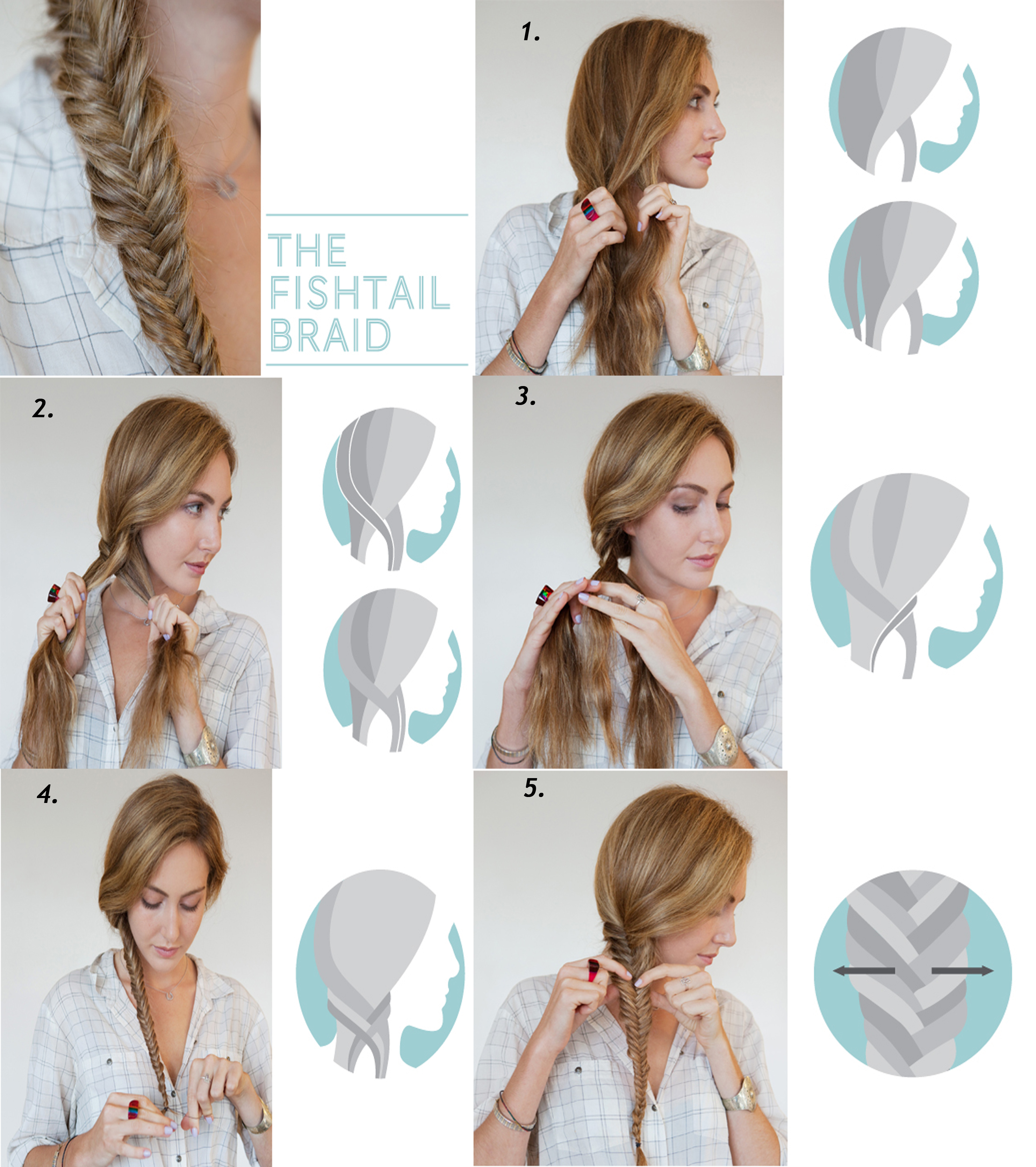 Question how did you ladies get good with styling your for Fish tails braid